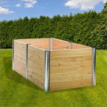 Hochbeet Holz Premium Duo rechteckig 210x109x75 cm – Bild $_i
