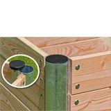 Hochbeet Holz Premium Duo rechteckig 210x109x75 cm