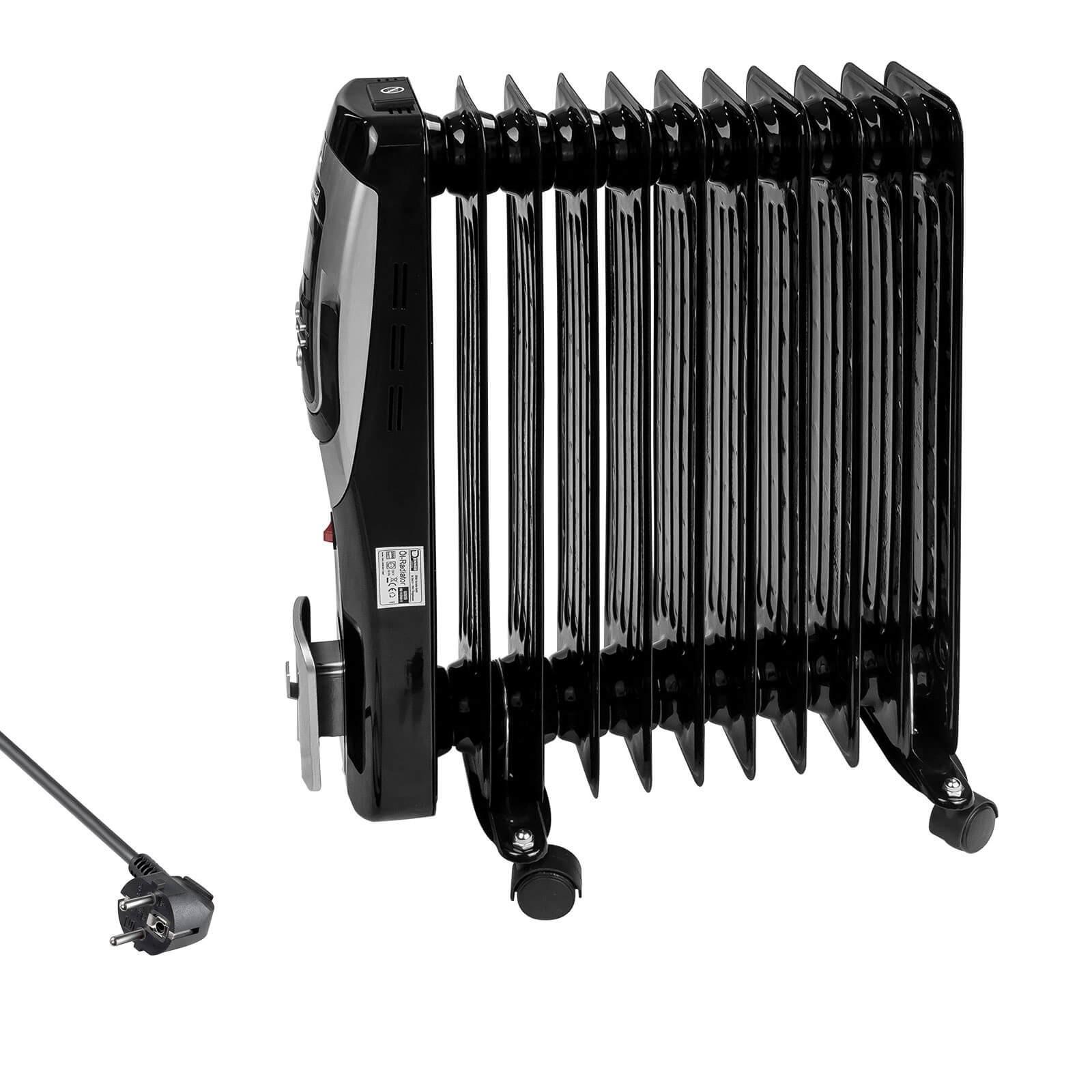 Denner-Edition Ölradiator Elektroheizung Elektroheizkörper Heizkörper Heizer 11 Rippen 2500W 60959