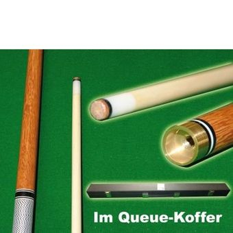 Billard Queue Set mit Queue Koffer  150 cm Messing Joint Spitze 11 mm – Bild $_i
