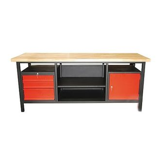 Werkbank Werktisch Arbeitstisch Werkstatttisch 3 Schubladen 1 Tür 2000x680x850cm – Bild $_i