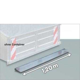 Schürfkante / Schürfleiste / Schürfschiene 120 cm für Heckcontainer