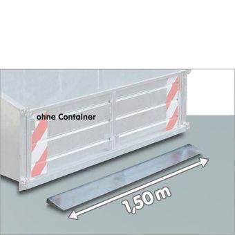 Schürfkante Schürfleiste Schürfschiene 150 cm für Heckcontainer Heckmulde