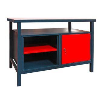 Werkbank / Werktisch 1 Türe, 2 Fachböden, 85x120x60cm