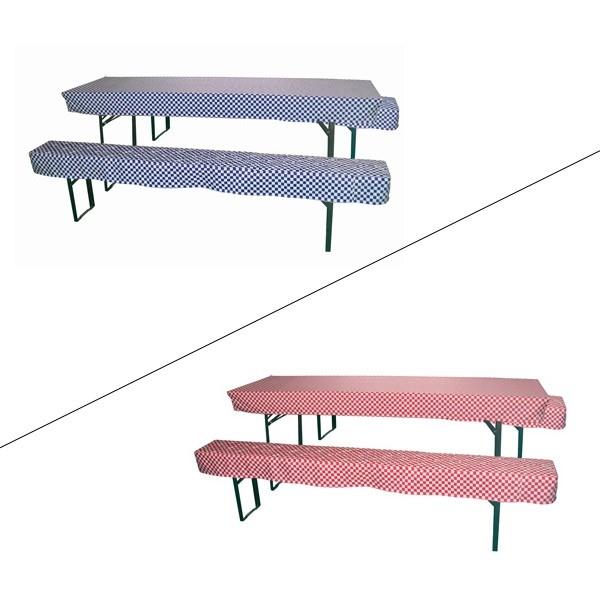 2x hussen sitzpolster 1x tischdecke set f r bierzeltgarnitur farbwahl. Black Bedroom Furniture Sets. Home Design Ideas