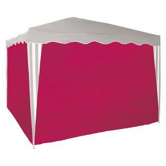 Seitenverkleidung 4 x rot 2.9x1.9 m für Faltpavillon 3x3 m