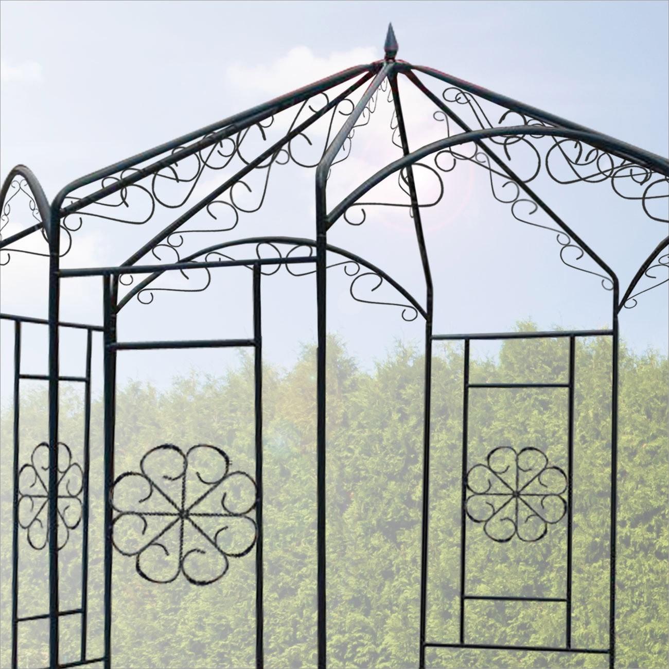 Metall Pavillon / Gartenpavillon Wien 160x160x250 cm