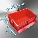 Heckcontainer / Heckmulde Basic 100 cm mechanisch pulverbeschichtet