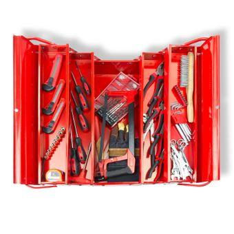 Metall Werkzeugkasten Werkzeugkoffer inkl. + 69tlg. Werkzeug Set – Bild $_i