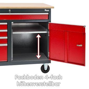 Werkbank Werktisch Arbeitstisch mobil mit 5 Schubladen 1 Staufach fahrbar – Bild $_i