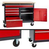 Werkbank / Werktisch mobil mit 5 Schubladen 1 Staufach fahrbar