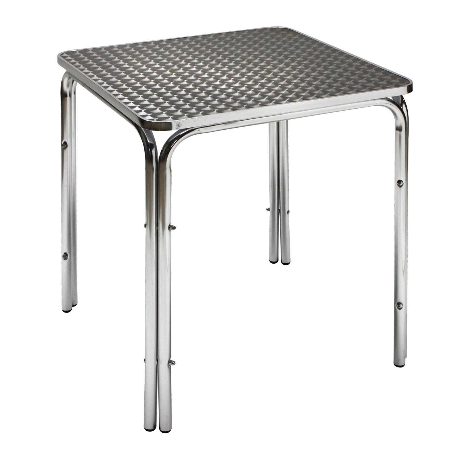 Dema Alu Gartentisch Bistrotisch Twin 800 80x80x70 cm Tisch Alutisch Eiscafe Bistro 14165