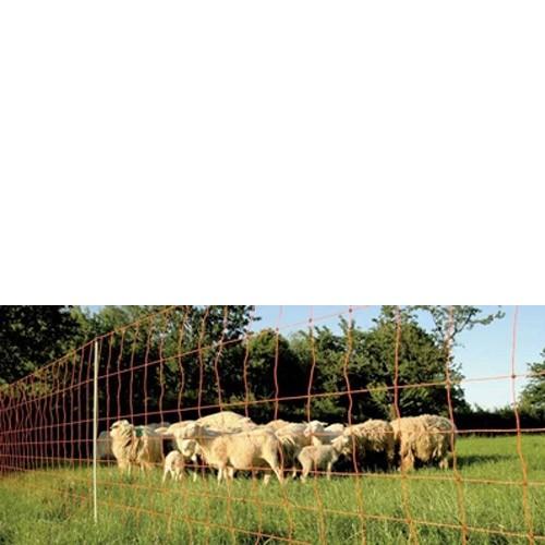 Hausmarke Euronetz Schafnetz 50m Schafzaun Doppelspitze 106cm Höhe 10331