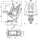 Traktorsitz / Schleppersitz / Klappsitz ST 13DS-05