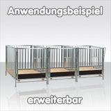 Kälberbox - Baukastensystem Lärchenholz Boden 100x140x10 cm
