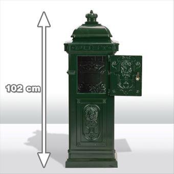 Stand - Briefkasten NOSTALGIE grün Alu-Guss verziert – Bild $_i