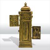 Stand - Briefkasten NOSTALGIE bronze Alu-Guss verziert