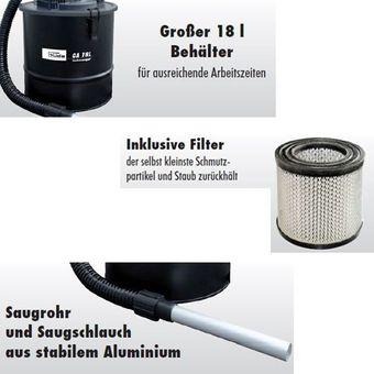 Güde Aschesauger / Ofensauger GA18L 1200W 18L mit Feinstaubfilter – Bild $_i