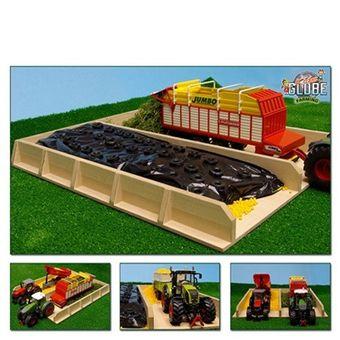 Kids Globe Fahrsilo 38 x 46 x 5 cm aus Holz für den Holz Bauernhof Spielzeug Kinder