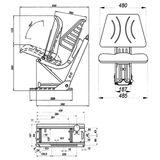 Staplersitz / Gabelstaplersitz ST F007BS mit Armlehne