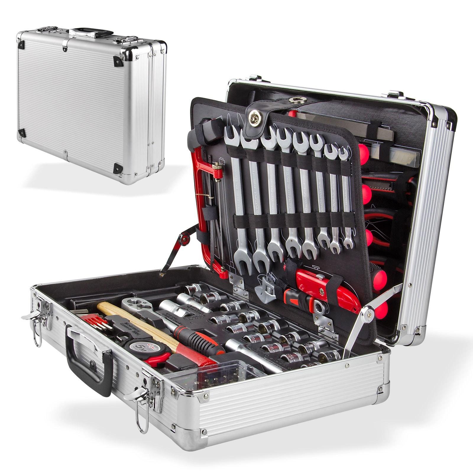 Alu Werkzeugkoffer Bestuckt 109 Tlg 4 Ebenen Abschliessbar