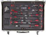 Alu Werkzeugkoffer bestückt 109 tlg - 4 Ebenen - abschließbar