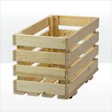 Holzkiste Rollkiste stabil 66x34x40 cm aus Vollholz Fichte Tanne