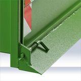 Heckcontainer / Heckmulde 1200S grün mechanisch bis 800kg Kat 1 + 2