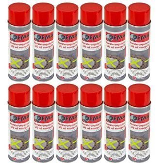 Markierungsspray / Markierfarbe 500 ml 12-er SET neon-gelb