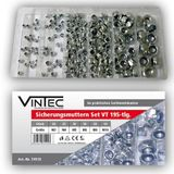 Vintec Sicherungsmuttern 195-tlg Sortiment M-3+4+5+6+8+10 Setbox
