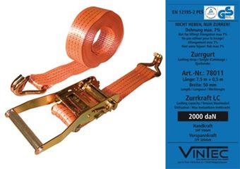 Vintec Spanngurt / Zurrgurt 2-teilig 4 Tonnen 8 m x 5 cm VintecSV – Bild $_i