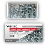 Vintec Karabiner + Schäkel + Seilklemmen Sortiment 30-tlg Setbox