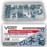 Vintec Schmiernippel 110-tlg Sortiment M6/M8/M10 Gewinde Setbox Abschmiernippel