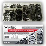 Vintec Sicherungsscheiben 300-tlg Sortiment 1.5 - 22 mm Setbox