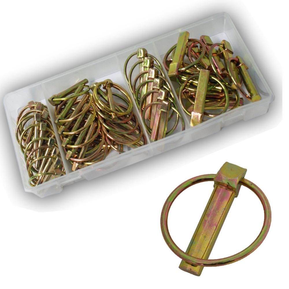 10 x Klapp-Splint 8 x 45 mm Splint Ring 40 x 3 mm Sicherung