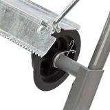 Putzpapier Rollenhalter / Ständer für Putztuchrolle 40 cm verzinkt