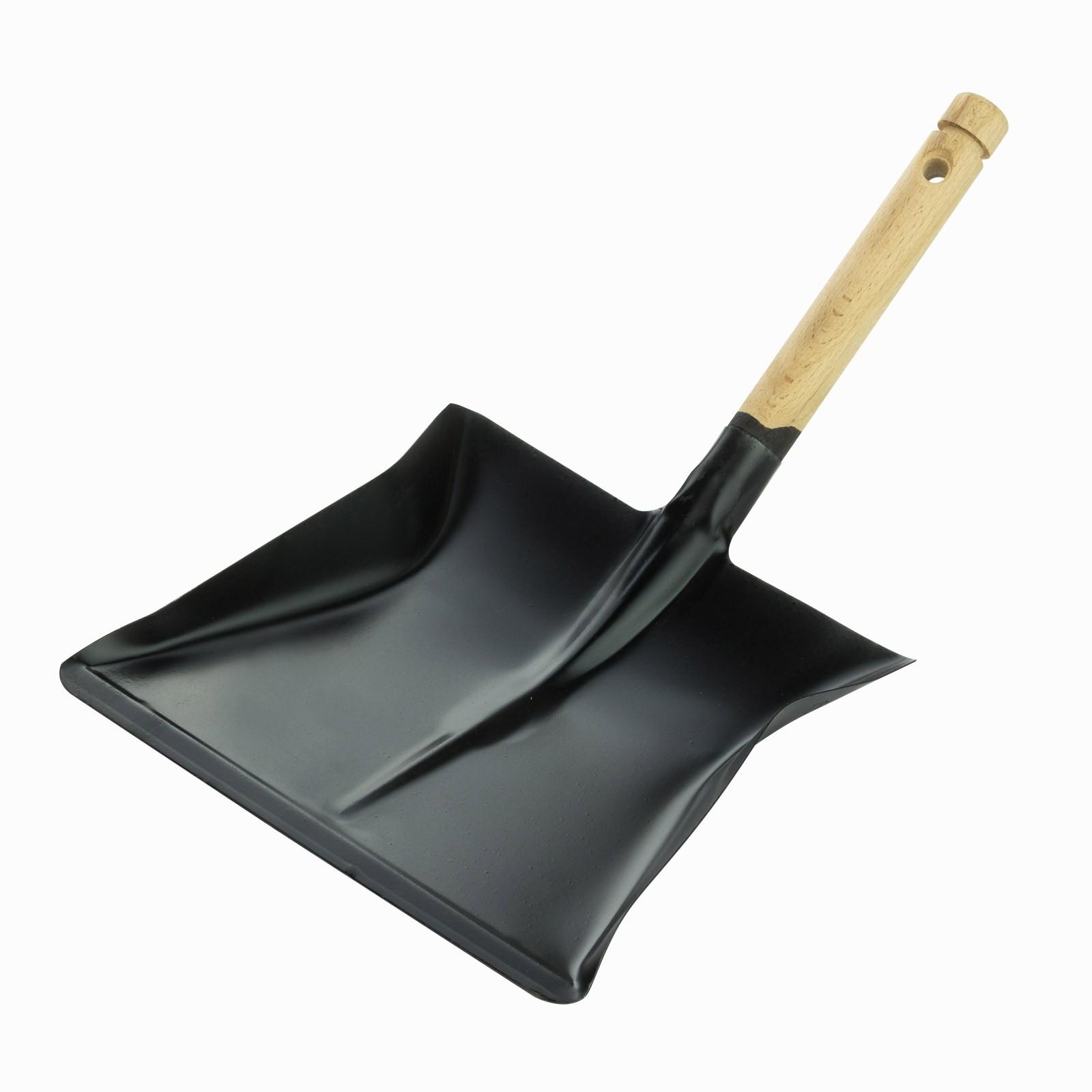Dema Kehrschaufel Kehrblech Schaufel schwarz mit Holzgriff 17075