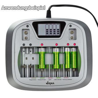 Akku Ladegerät / Batterieladegerät AL8 electronic AA AAA C D Blockbatterien – Bild $_i