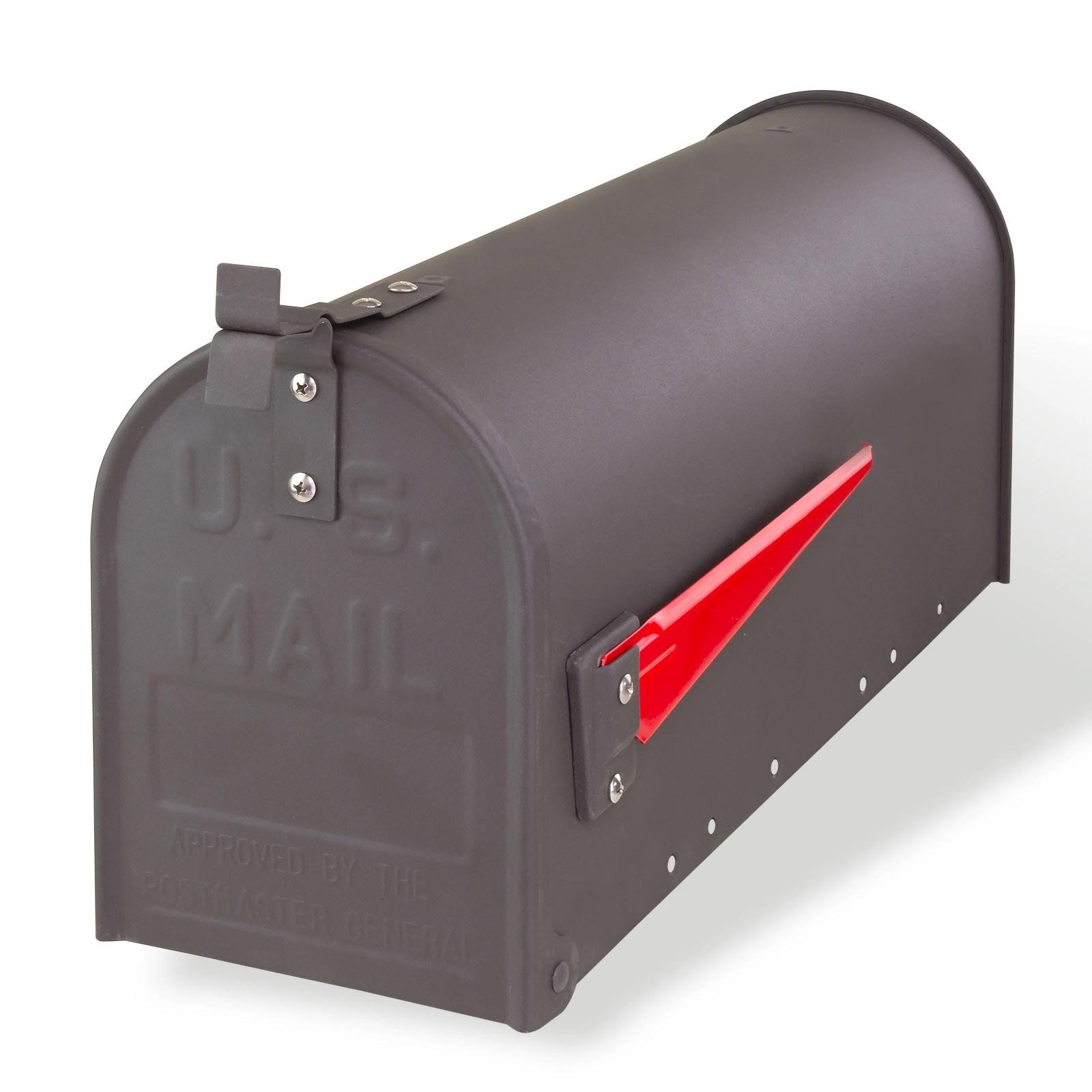 briefkasten mailbox aus stahl anthrazit