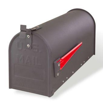 Amerikanischer Briefkasten / American Mailbox aus Stahl anthrazit – Bild $_i
