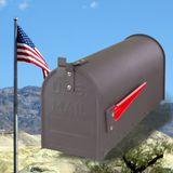 Amerikanischer Briefkasten / American Mailbox aus Stahl anthrazit