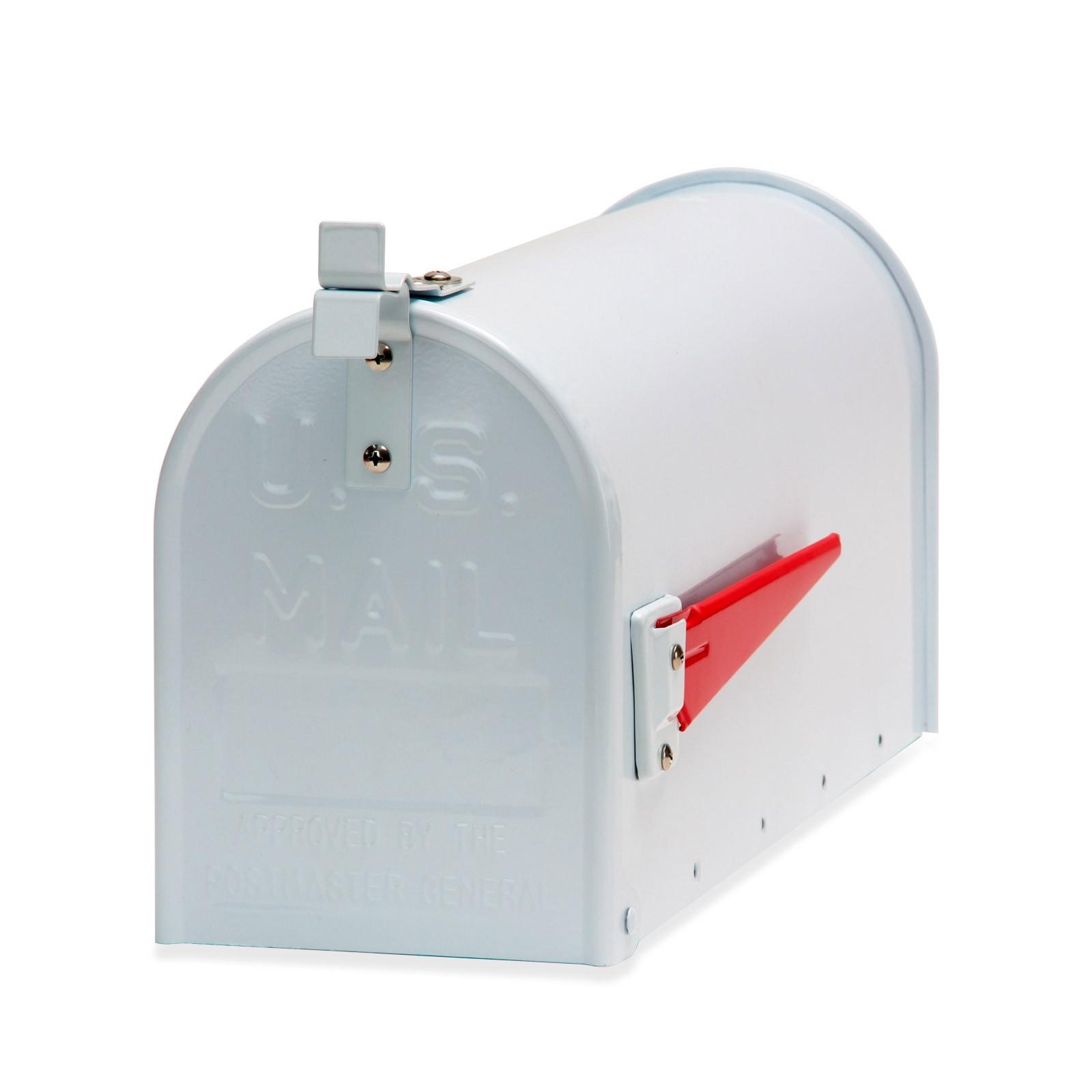 Dema Amerikanischer Briefkasten American Mailbox Zeitungsrolle Postkasten Alu weiß 40756