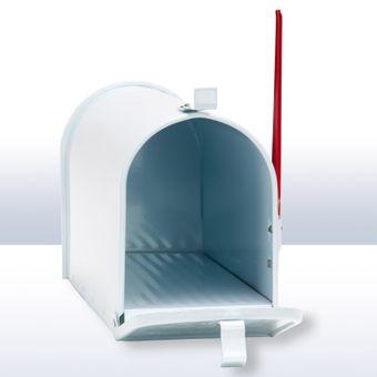 Amerikanischer Briefkasten / American Mailbox aus Alu in weiß – Bild $_i