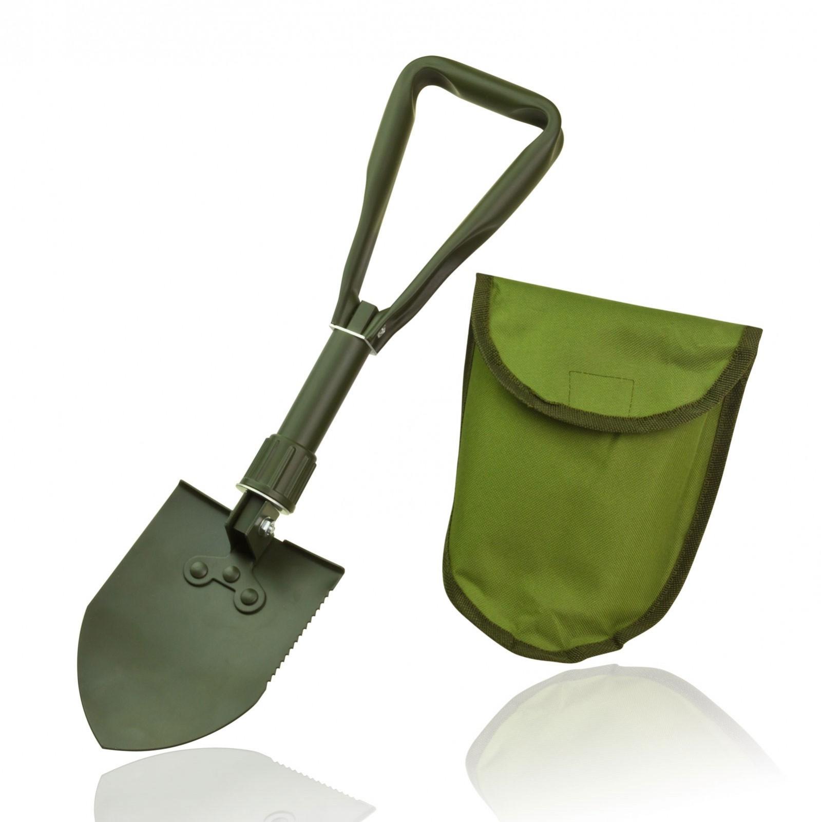 Dema Klappspaten Spaten klappbar KS48 gezahnt m. Tasche Armee-Spaten Nato-Spaten 24528