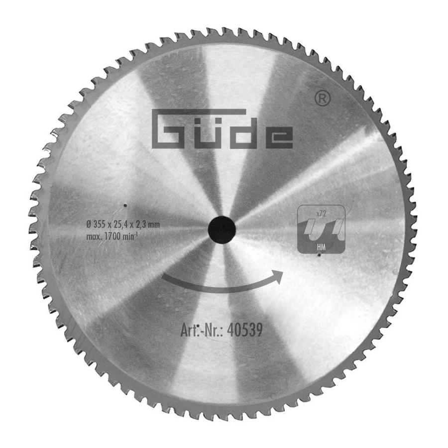 guede Güde Metallkreis Sägeblatt 350 T Metallsäge Metallkreissäge 40539