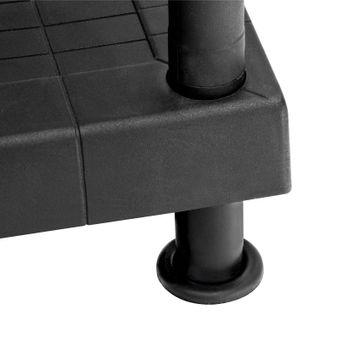 Kunststoffregal / Kellerregal mit 5 Böden schwarz 80/5 – Bild $_i