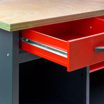 Werkbank / Werktisch WB2T 120x60x84 cm 2 Schubladen 2 Türen – Bild $_i