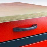 Werkbank / Werktisch WB2T 120x60x84 cm 2 Schubladen 2 Türen
