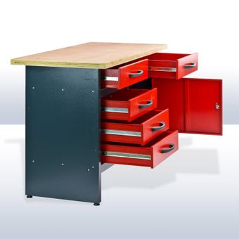 Werkbank / Werktisch WB5ST 120x60x84 cm 5 Schubladen 1 Tür – Bild $_i