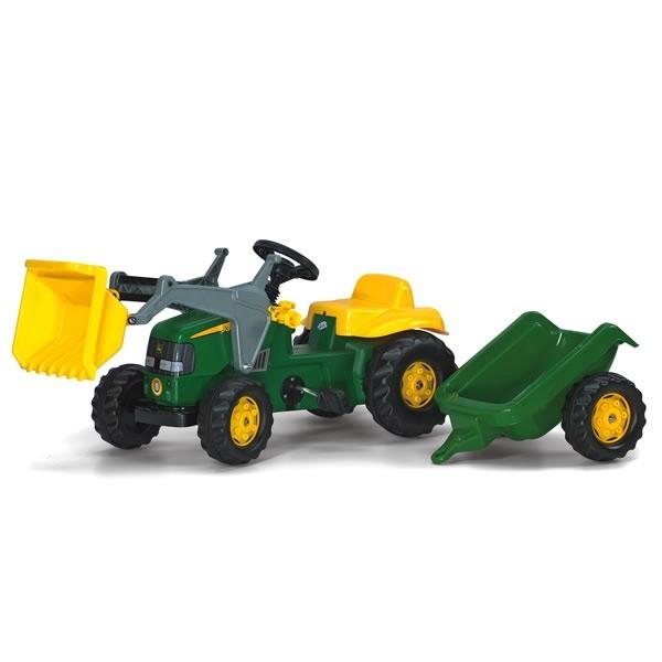 Rolly Toys RollyKid John Deere Trettraktor Tretbulldog + Anhänger 12187